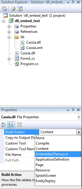 Embed dll Files Within an exe (C# WinForms) | adamthetech com
