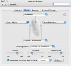 OSX Mouse Settings